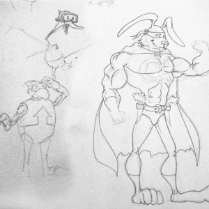 Sketch of the Day ~ Captain Carrot