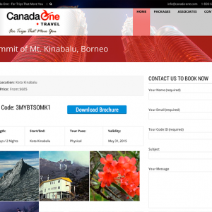 CanadaOne Package Page