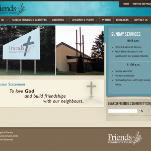 Friends Community Church Homepage