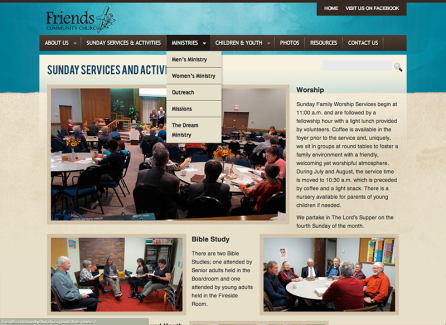Friends Community Church Content Page
