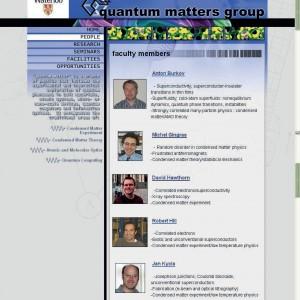 University of Waterloo, Quantum Matters Group