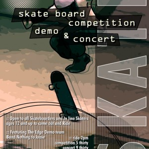 Skate Board Competition Poster